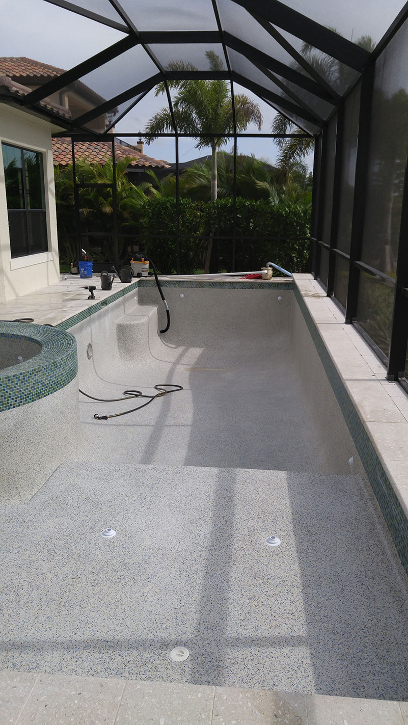 That same pool that was green and full of algae, we cleaned it up